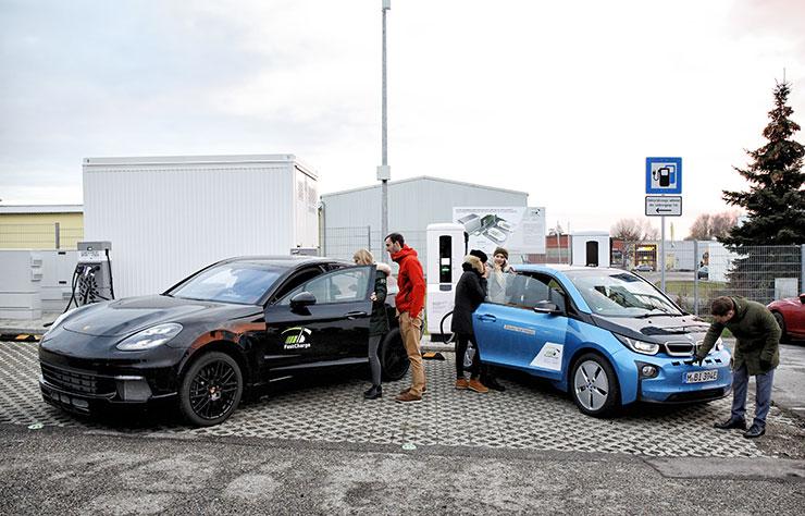 Bornes de recharge ultra-rapide de Allego par BMW et Porsche