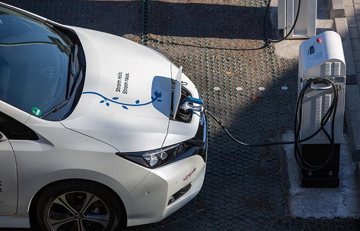 Technologie Vehicle-To-Grid avec une Nissan Leaf en Allemagne