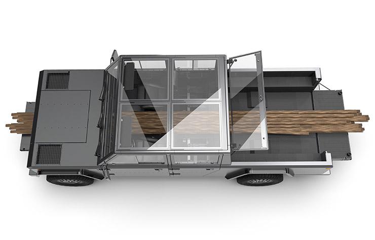 bollinger se d veloppe et lance un pick up lectrique. Black Bedroom Furniture Sets. Home Design Ideas