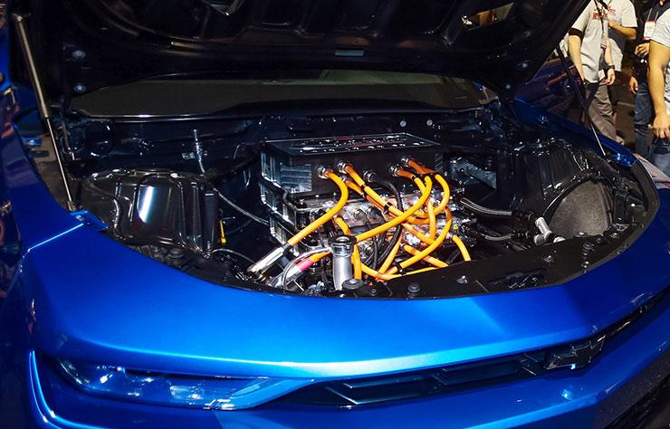 Prototype Chevrolet Camaro COPO électrique pour le drag