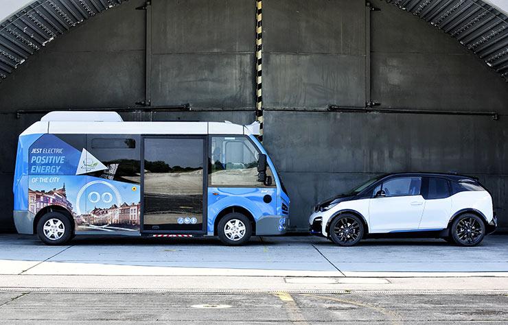 Minibus électrique turc Karsan avec chaine de traction de BMW