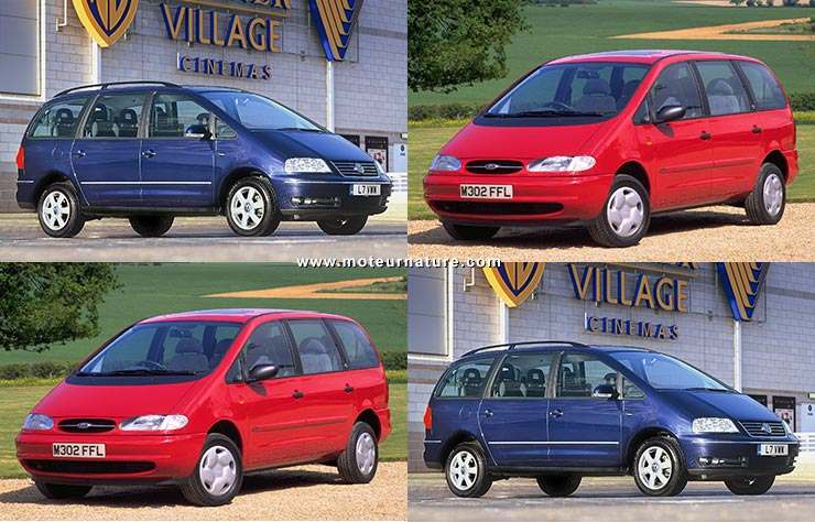 Ford Galaxy et Volkswagen Sharan