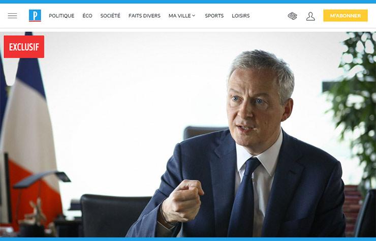 Copie d'écran article Le Parisien