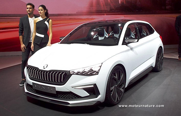 Concept hybride rechargeable Skoda Vision RS