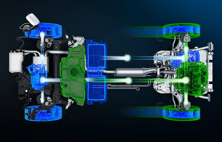 Chaine de traction Peugeot Hybrid4 PHEV