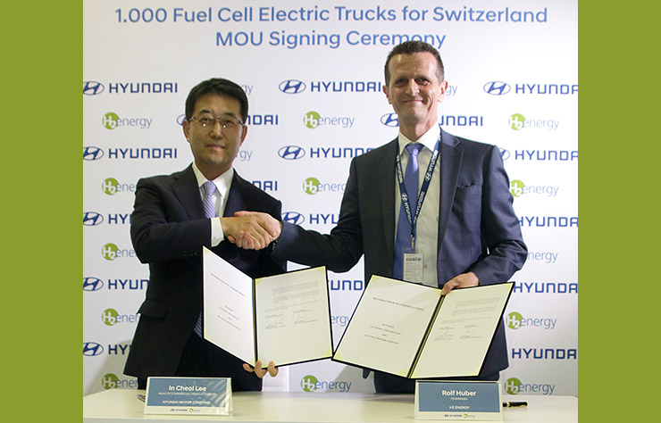 Signature accord entre Hyundai et H2Energy