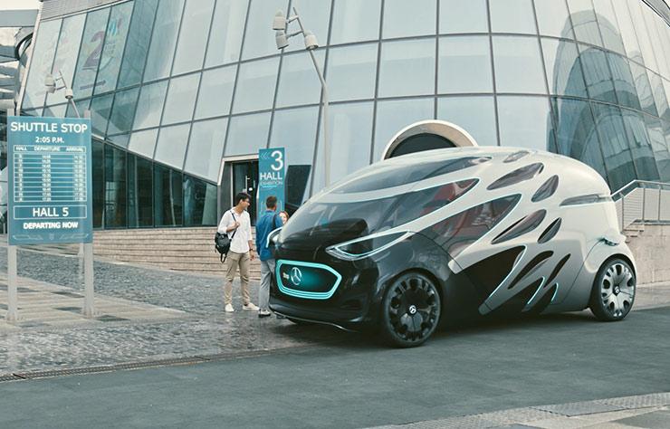 Concept autonome Mercedes Vision Urbanetic
