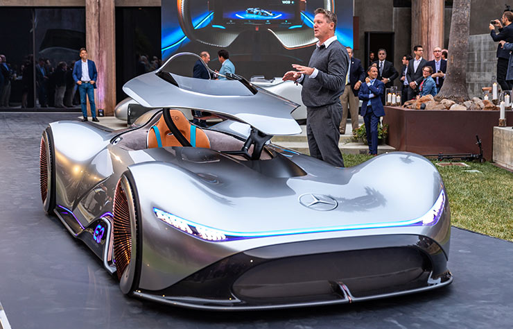 Mercedes Vision EQ Silver Arrow concept électrique