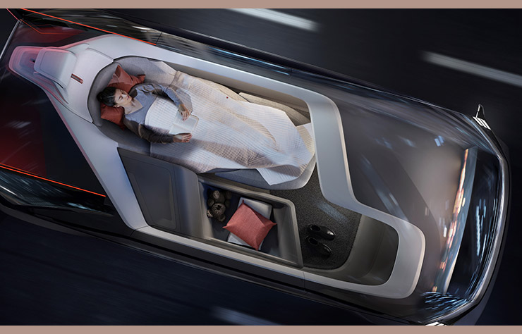 Concept autonome Volvo 360c