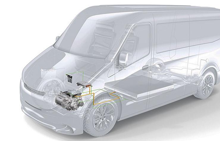 Utilitaire électrique avec propulsion de Bosch