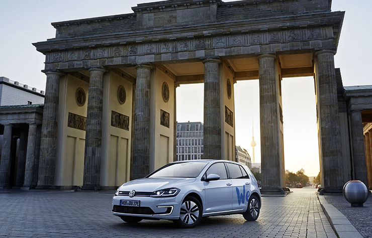 Volkswagen e-Golf du service autopartage We Share
