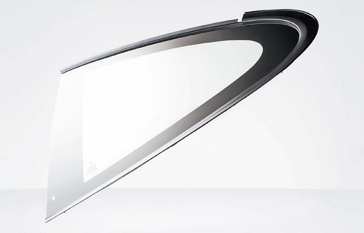 Verre Gorilla Glass sur la Porsche