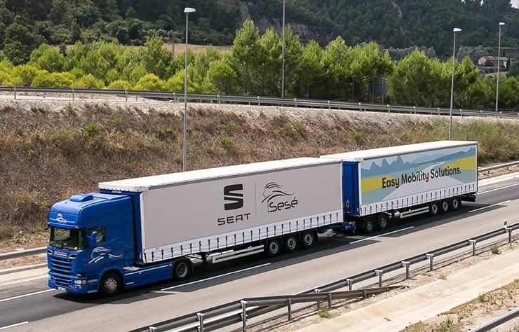 Mega truck Scania pour Seat et le groupe Sese