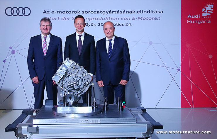 Production de moteurs électriques à Gyor en Autriche