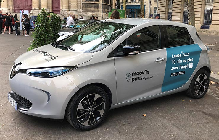 Renault Zoé moov'in Paris