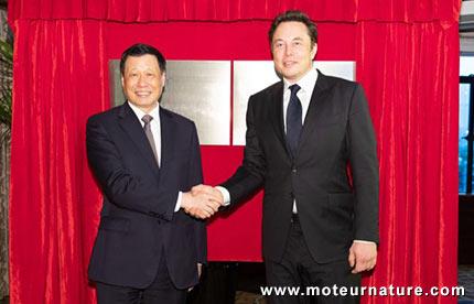 Elon Musk à Shanghai