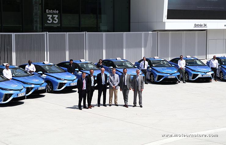 Flotte de Toyota Mirai, taxis à hydrogène pour Paris