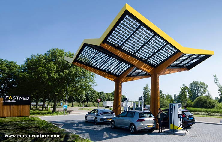 Borne de recharge 350 kw en Allemagne