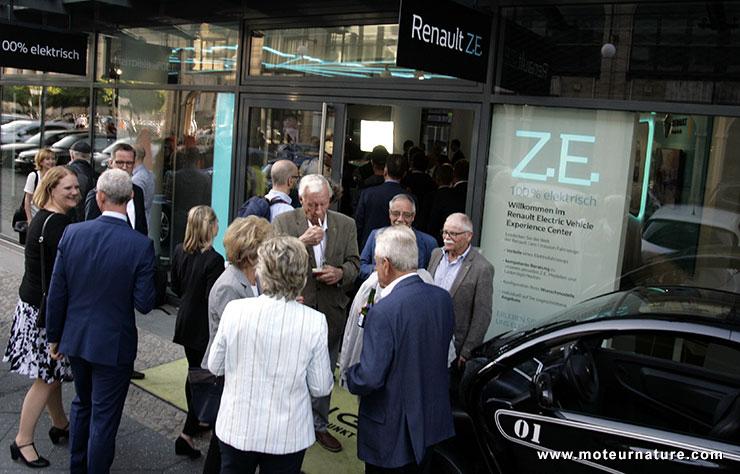 Showroom Renault électriques à Berlin