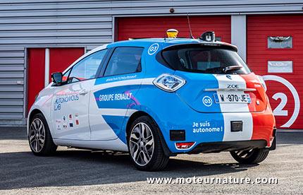Renault Zoé autonome à Rouen