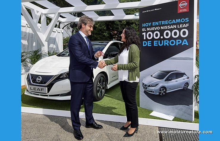 100000 Nissan Leaf en Europe