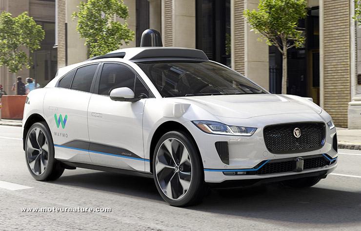 Jaguar I-Pace autonome avec Waymo