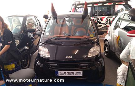 Smart Fortwo au salon de l'auto de Riga