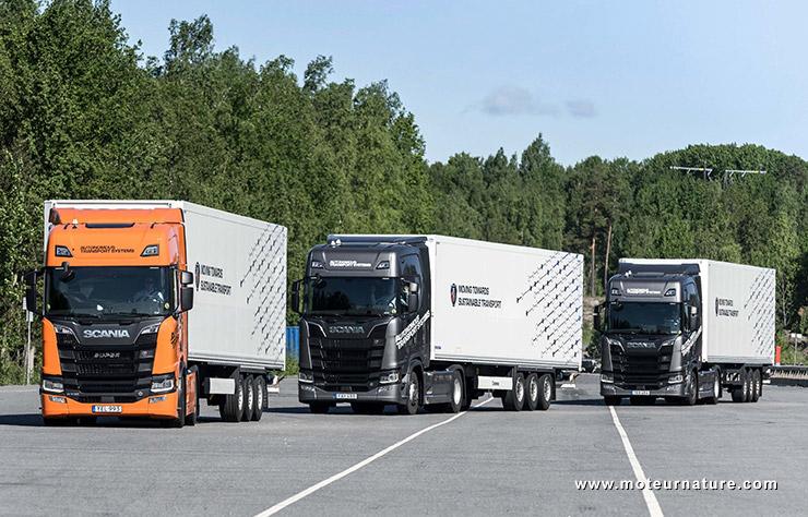 Platooning avec Scania