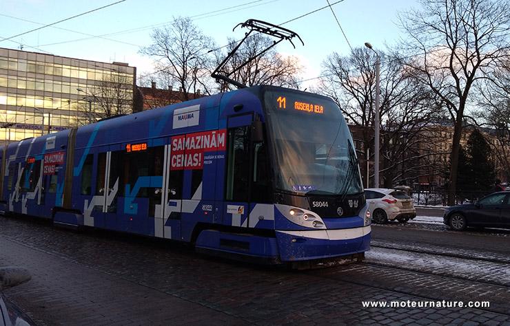 Un tramway à Riga