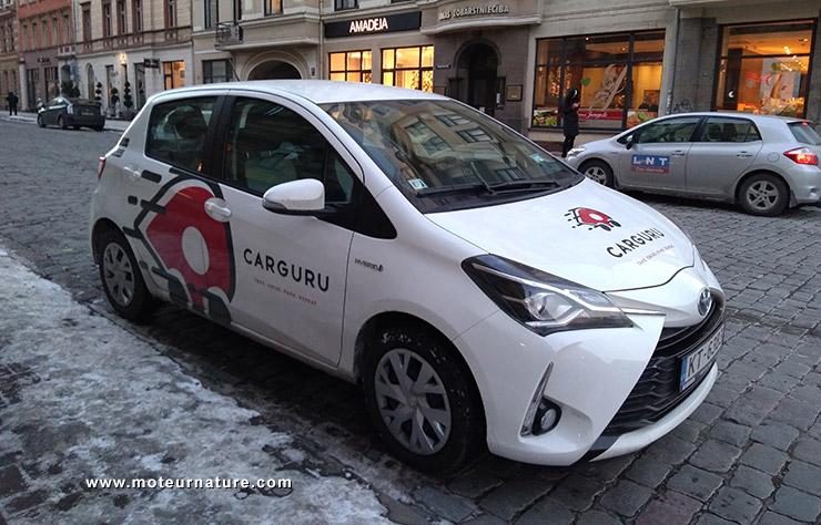 Une voiture d'autopartage de Carguru