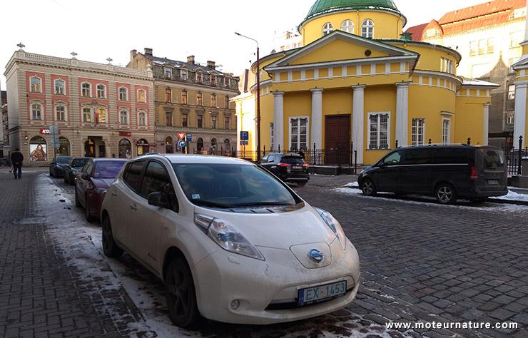 Nissan Leaf à Riga