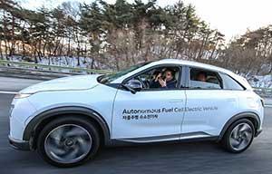 Hyundai Nexo à hydrogène, en plus, elle est autonome