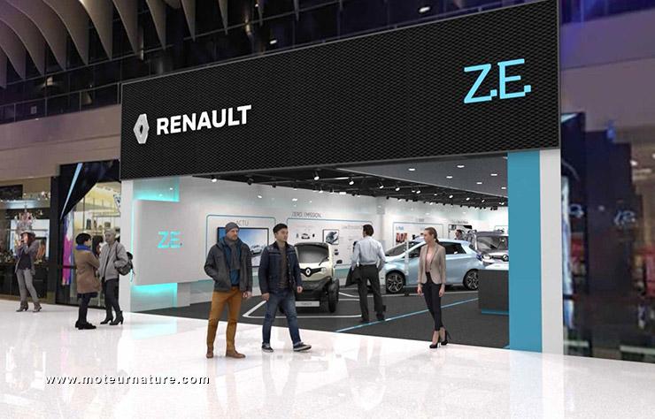 Ouvre un concept store dédié aux voitures ZE — Renault
