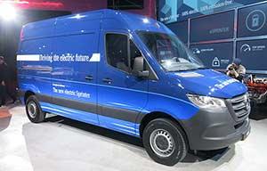 Ambitions moyennes pour le Mercedes Sprinter électrique