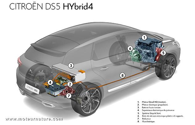Architecture Citroen DS5 Hybrid4