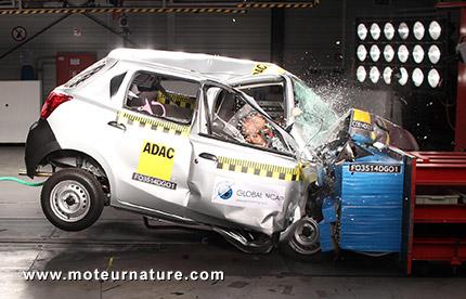 La Datsun Go testée par le Global NCAP