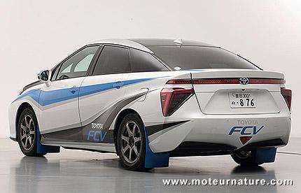 La Toyota à hydrogène voiture zéro en rally