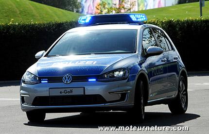 La Volkswagen e-Golf en service dans la police