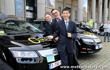 Taxis électriques BYD à Bruxelles