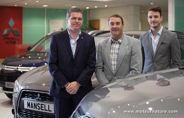 Nigel Mansell vend des Mitsubishi