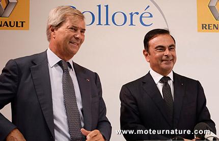 Vincent Bolloré et Carlos Ghosn