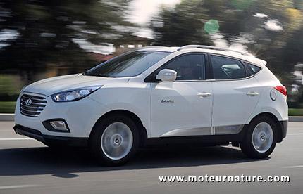 Hyundai Tucson à pile à combustible à hydrogène