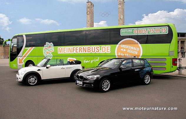 DriveNow avec MeinFernbus