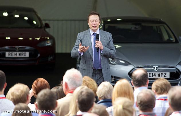 Elon Musk, patron fondateur de Tesla Motors