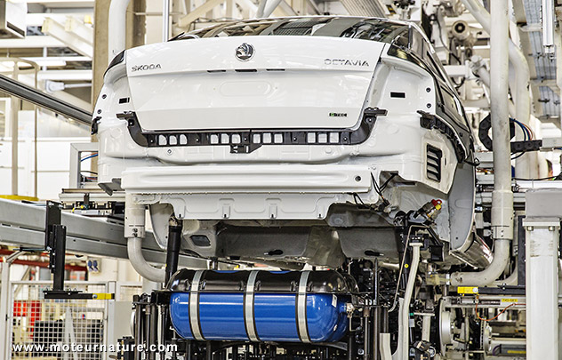 La Skoda Octavia au gaz en production
