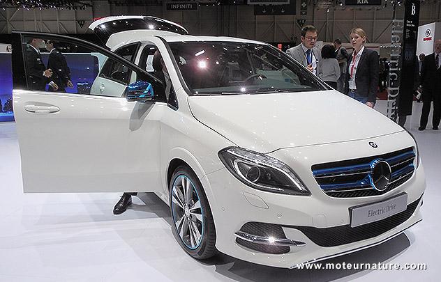Les surprises de la Mercedes classeB électrique