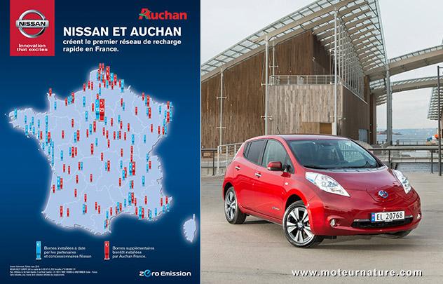 Bornes de charge: Auchan leader devant Leclerc