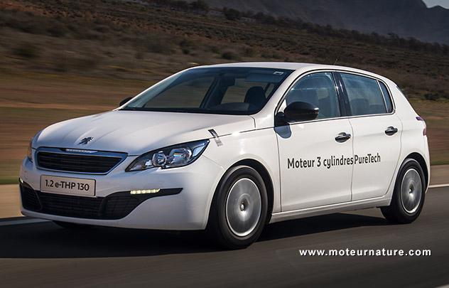 2,85l/100km pour la Peugeot 308 1.2l e-THP 130