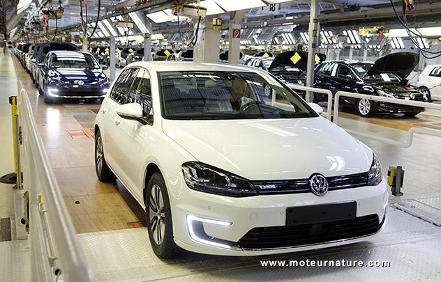 La VW Golf électrique est en production