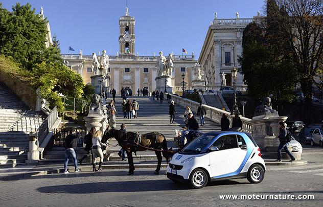 car2go, leader mondial de l'autopartage, lancé à Rome